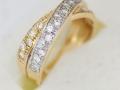 Dámský prsten s kameny peltený