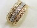 Dámský prsten v kombinaci zlata