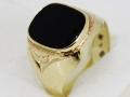 Pánský prsten černý kámen