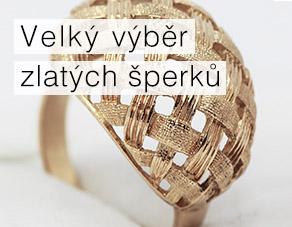 Velký výběr zlatých šperků