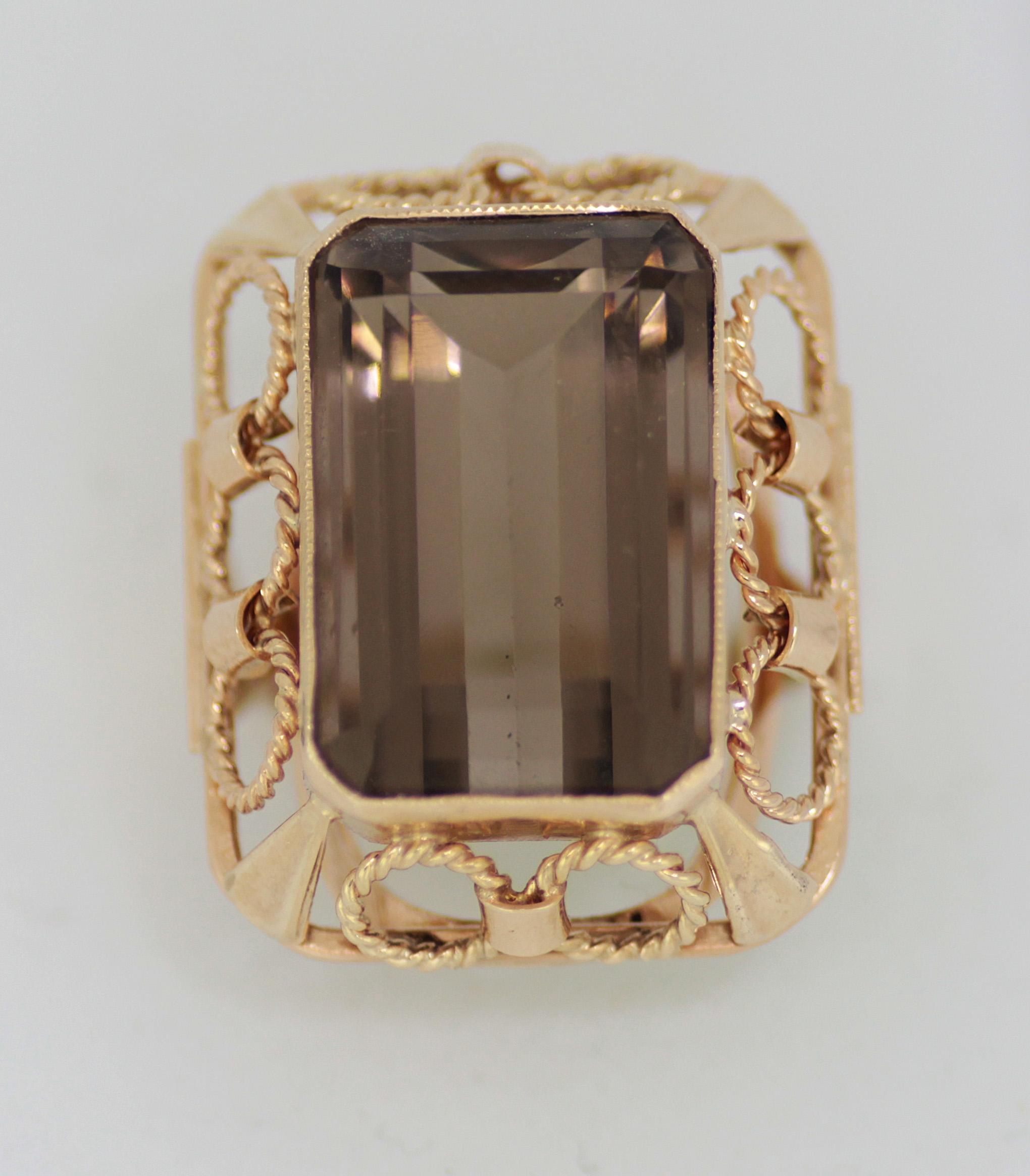 d193f8423 Barokní prsten velký Dámský prsten s kameny ...