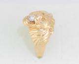 Prsten lev s diamantem
